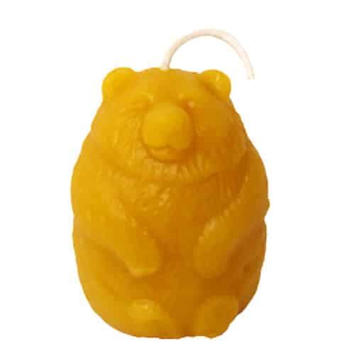 Bear Beeswax Candle